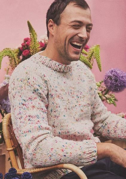 Konfetti Sweater herre mønster
